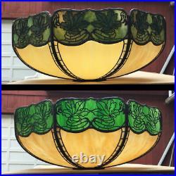 Handel Maple Leaf Teroca Overlay Slag Glass Lamp SHADE as is