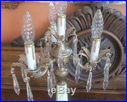 Jadite Slag Glass Table Candelabra Lamp Rewired Beautiful
