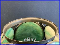 Jeweled Slag Glass Oil Kerosene Gas Lamp Shade