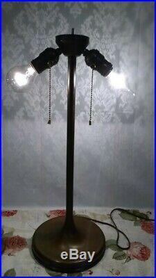 Lamb & Greene Leaded lamp Handel Tiffany arts crafts slag glass Deco era