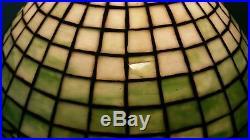 Leaded glass lamp unique art glass company handel era arts and crafts slag glass