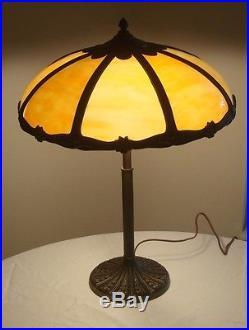 Miller Slag Panel Glass Table Lamp