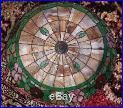 Mosaic Shade Co. Chicago- leaded lamp Handel Tiffany arts crafts slag era