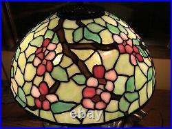 Nr handel arts crafts leaded vintage slag glass antique lamp bradley hubbard era