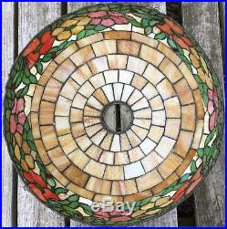 Peony Leaded Slag Glass Table Lamp #523 by Wilkinson, Tiffany
