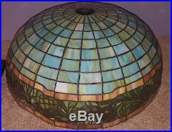 RARE Antique Gorham Leaded Slag Stained Glass Table Lamp Handel Tiffany Era
