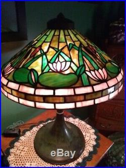 RIVIERE leaded Glass Lamp- Handel Tiffany Duffner arts & crafts slag Wilkinson