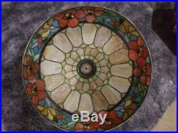 ROYAL ART GLASS leaded Lamp Handel Tiffany Duffner arts & crafts slag era