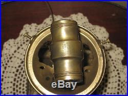 Rare Cast Iron and Cast Metal, Slag Glass, Lamp Antique