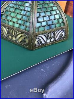 Rare Original Bradley & Hubbard Aladdin Slag Glass Overlay Lamp