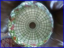 Rare Williamson leaded glass lamp-Handel Tiffany Duffner arts crafts era slag