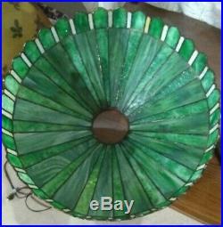 SIGNED Handel Leaded glass lamp Tiffany Duffner arts crafts mission slag era