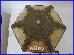 Stunning C. 1910 Empire Of Chicago Slag Glass Lamp