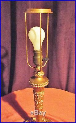 Salem Brothers Arts Craft Mission 12 Panel Slag Glass Bradley/Hubbard Era Lamp