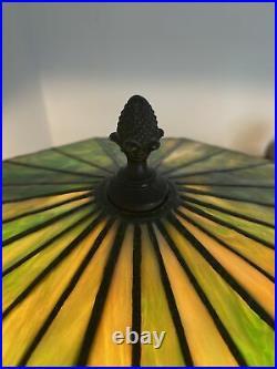 Slag Glass Lamp 29 Bradley Hubbard Arts Crafts Antique Water Lily