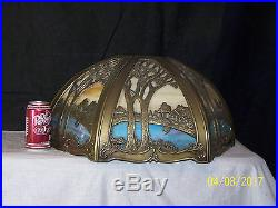 Slag Glass Mission Style Arts & Crafts Lamp/Ceiling MultiColor Shade