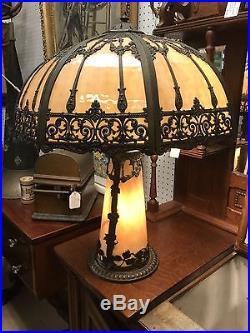 Slag glass table lamp-The best