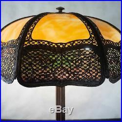 The best Bradley and hubbard slag glass lamp, c. 1910 HANDEL ERA