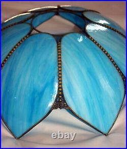Unique 2 Piece Vintage Tulip Swag Slag Glass Lamp Hanging Light Fixture