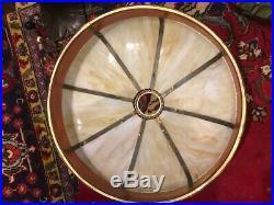 Victorian Arts Crafts Vintage Slag Glass Bradley Hubbard Handel Era Lamp NR