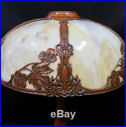 Vintage Antique Slag Glass Lamp