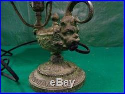 Vintage Bradley and Hubbard slag glass overlay lamp, 1910s, Art Deco alladin