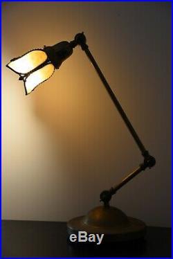 Vintage Slag Glass Lamp Antique Slag Glass Lamp