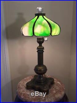 Vintage Slag glass & Brass Night Lamp