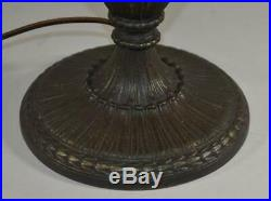 Vintage leaded Panel Slag Glass Lamp Base