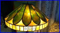 Whaley Leaded glass lamp shade Handel Tiffany Duffner arts crafts slag era