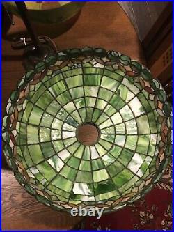 Wilkinson Leaded Slag Glass Arts Crafts Antique Lamp Handel Bradley Hubbard Era