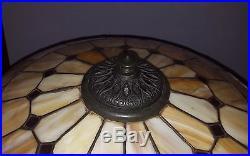 Wilkinson Leaded Slag Stained Glass Handel Duffner Tiffany Era Lamp